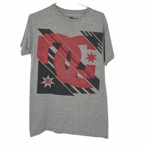 DC grey and red branded graphic small tshirt